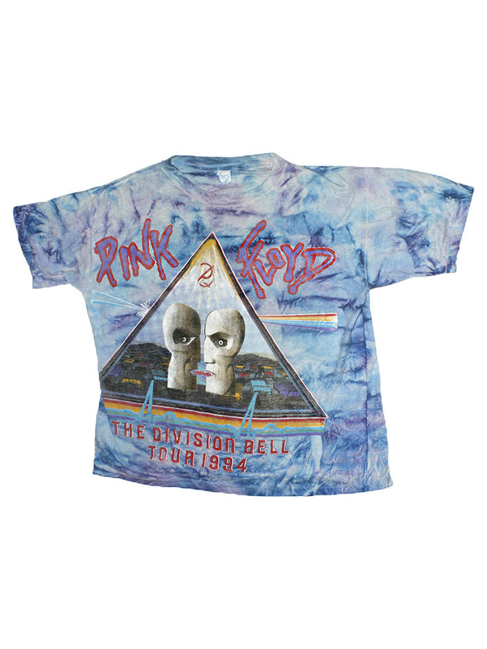 Vintage 90's Pink Floyd Tie Dye Division Bell Tour