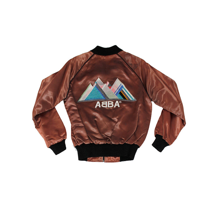 Vintage 70's Abba Embroidered Satin Jacket