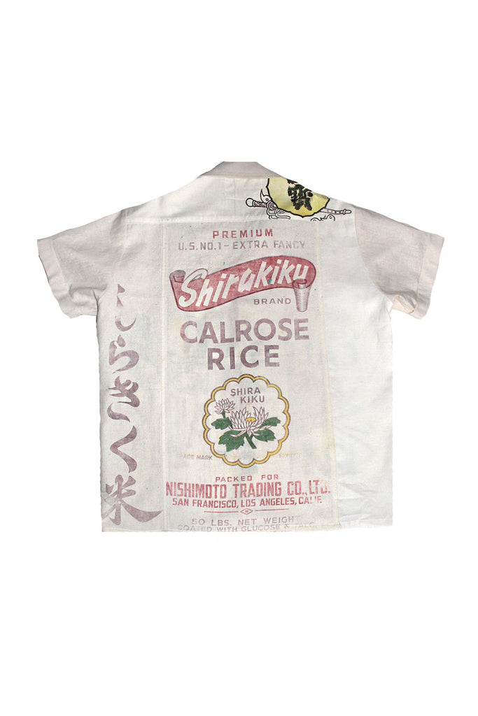 ALC-067 Vintage 50's Rice Sack Linen Shirt ///SOLD///