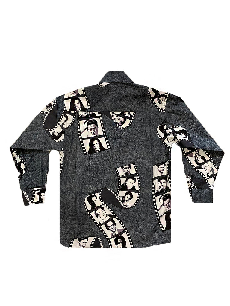 ALC- White Noise 90's Heartthrob Button Down Shirt