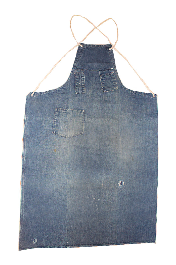 Vintage 40's Selvedge Denim Work Apron