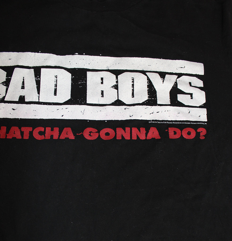 Vintage 90's Deadstock Bad Boys Movie Soundtrack Promo T-Shirt