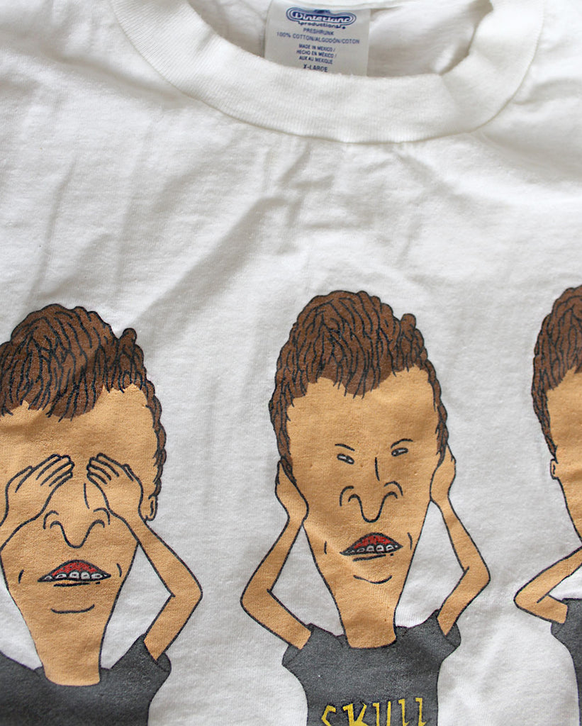 Vintage 90's Beavis and Butthead See No Evil, Hear No Evil, Speak No Evil T-Shirt