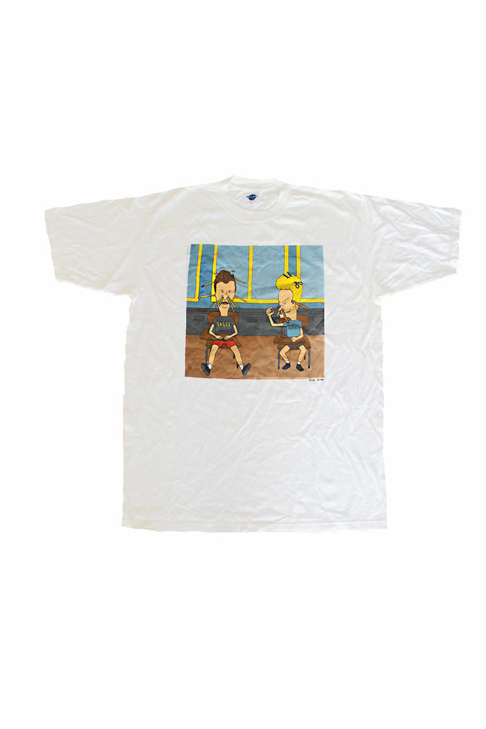 Vintage Deadstock 90's Beavis and Butthead Classroom Menace T-Shirt