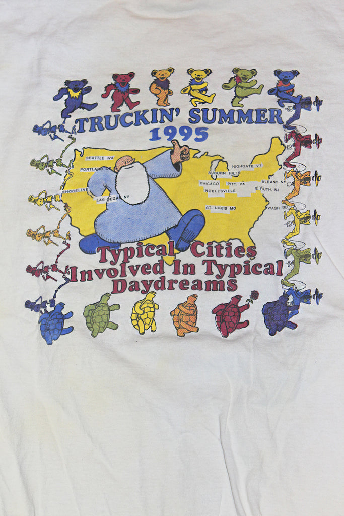Vintage 90's Grateful Dead Truckin' Summer T-Shirt