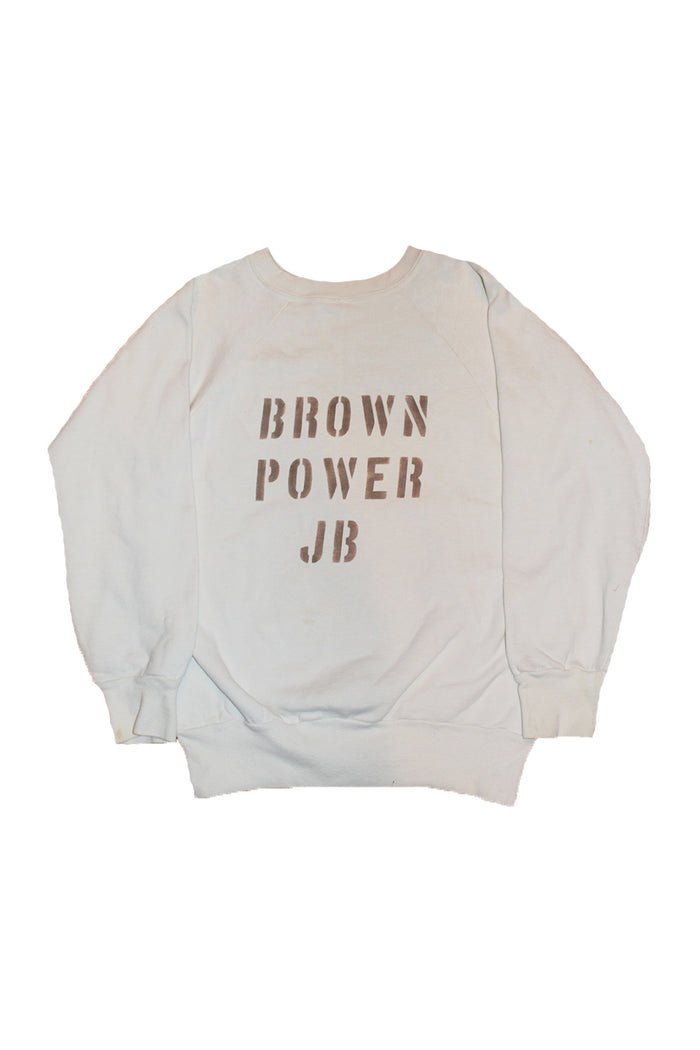 Vintage 60's Brown Power JB James Brown Sweatshirt ///SOLD///