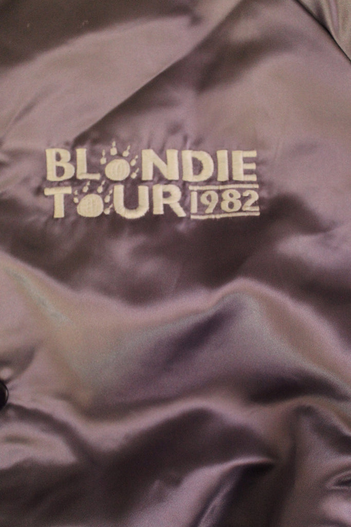 Vintage 80's Blondie Tour Satin Jacket