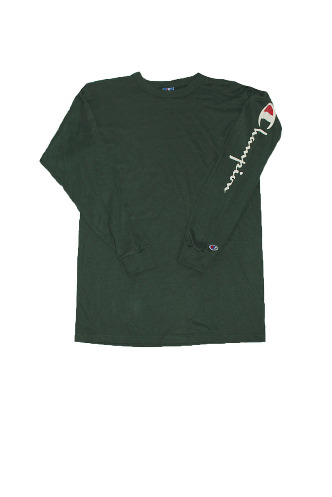 52b67a2da Vintage 90's Deadstock Champion Spellout Long Sleeve Hunter Green  ///SOLD///. Next