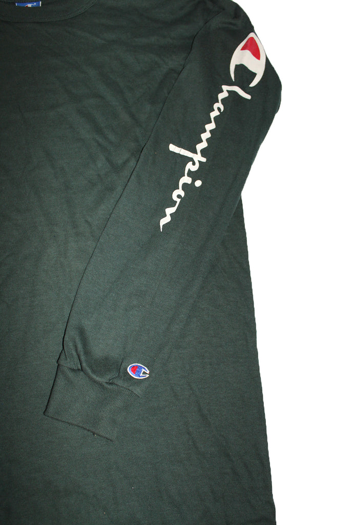 Vintage 90's Deadstock Champion Spellout Long Sleeve Hunter Green ///SOLD///