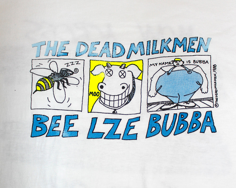 Vintage 80's The Dead Milkmen Beelzebubba Mow Across America Tour Shirt ///SOLD///