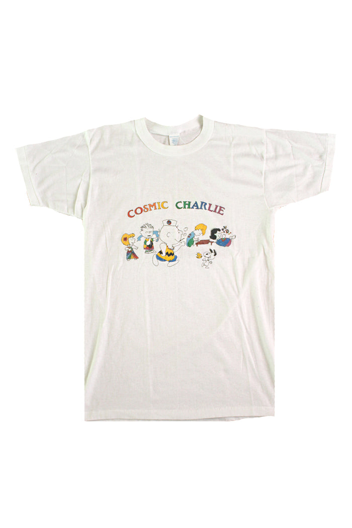 Vintage 70's Cosmic Charlie Grateful Dead Charlie Brown Fan Art T-Shirt