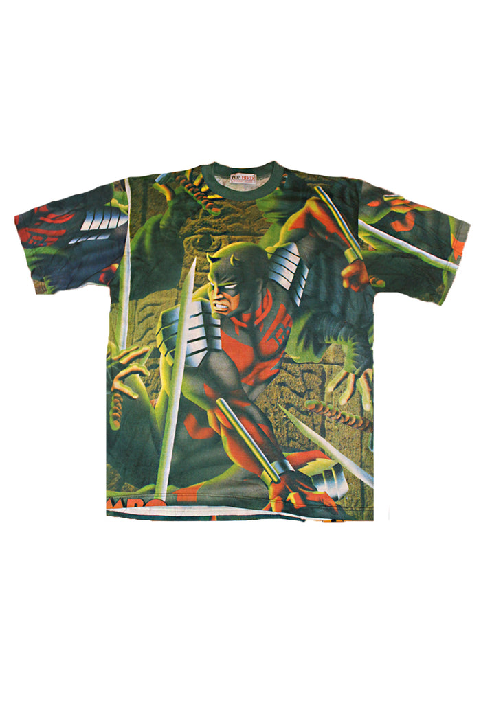 Vintage 90's Deadstock Daredevil Marvel Comic All Over Print T-shirt