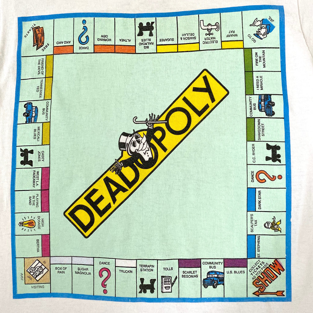 Vintage 80's Deadopoly Grateful Dead T-Shirt