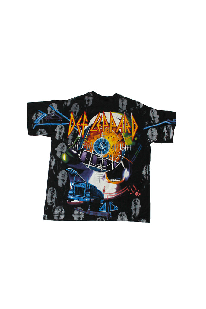 Vintage 90's Def Leppard All Over Print T-shirt