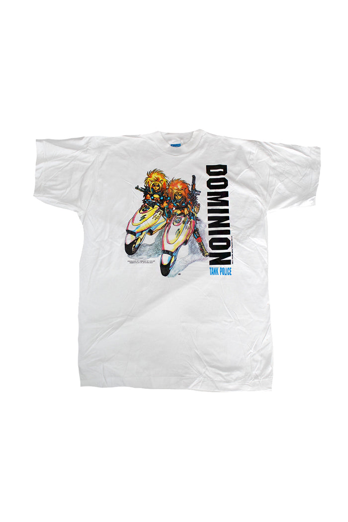Vintage 90's Deadstock Dominion Tank Police Rare Anime T-Shirt