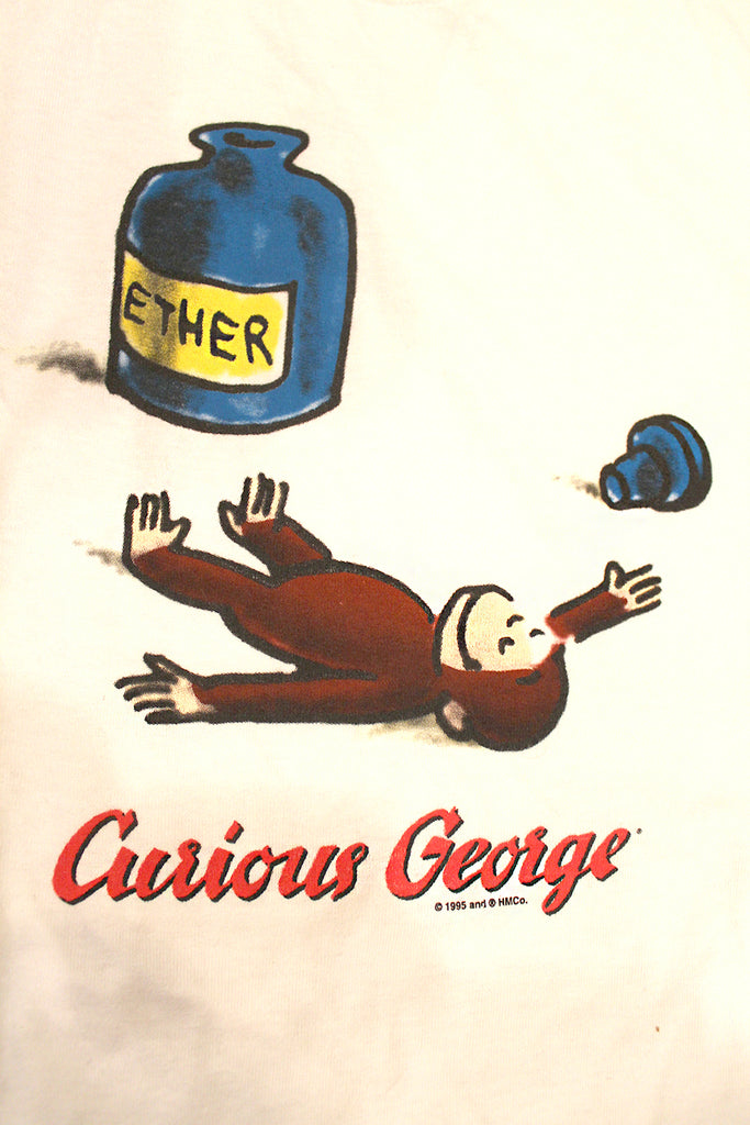 Vintage 90's Deadstock Ether Curious George T-Shirt ///SOLD///