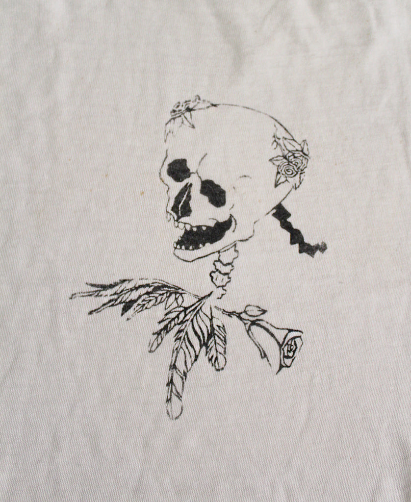 Vintage Grateful Dead Skull & Roses Fan Art T-Shirt