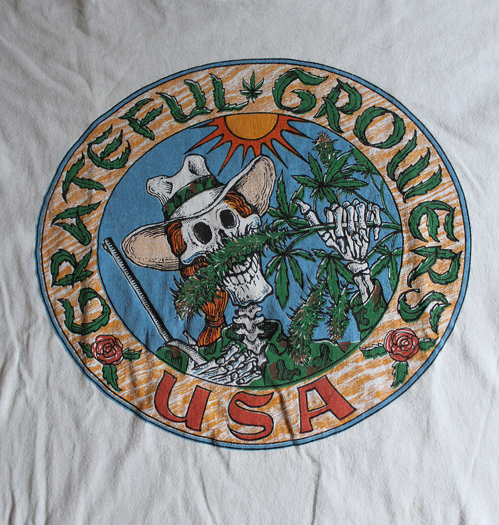 Vintage Grateful Growers Hemp Weed T-Shirt ///SOLD///