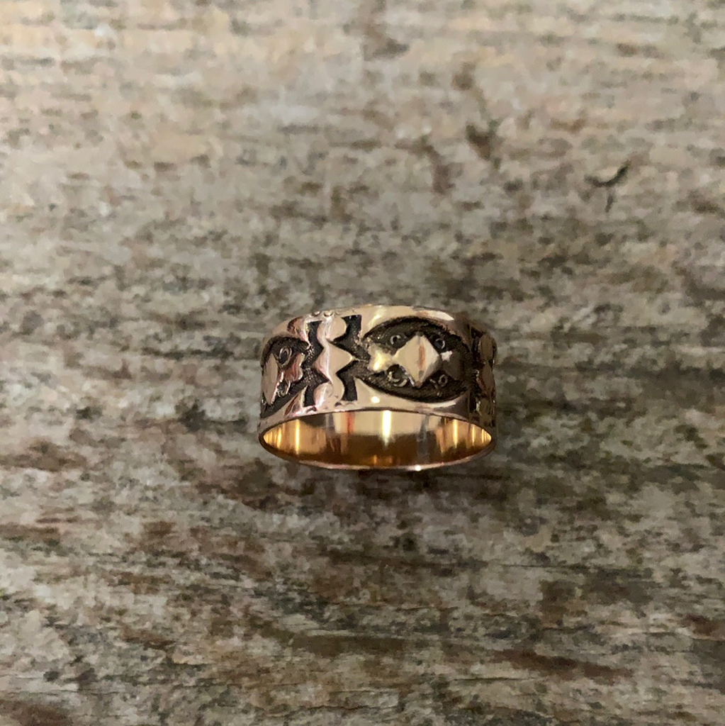 Victorian Cigar Band Ring Size 7