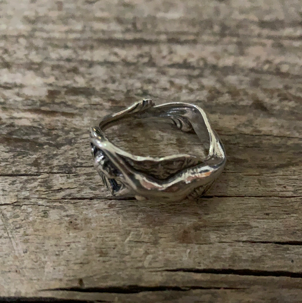 Vintage Sterling Silver Nude Lady Ring