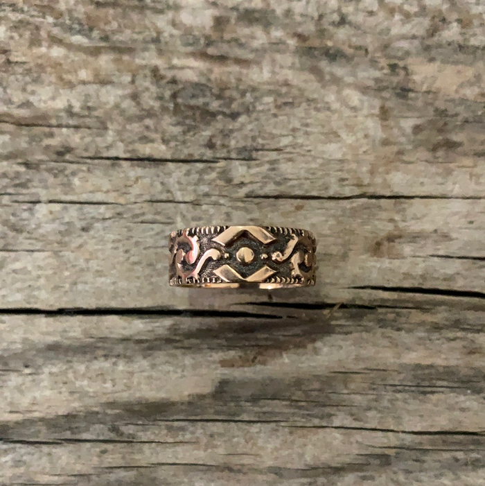 vintage gold victorian ring engraved rosegold rose cigar band