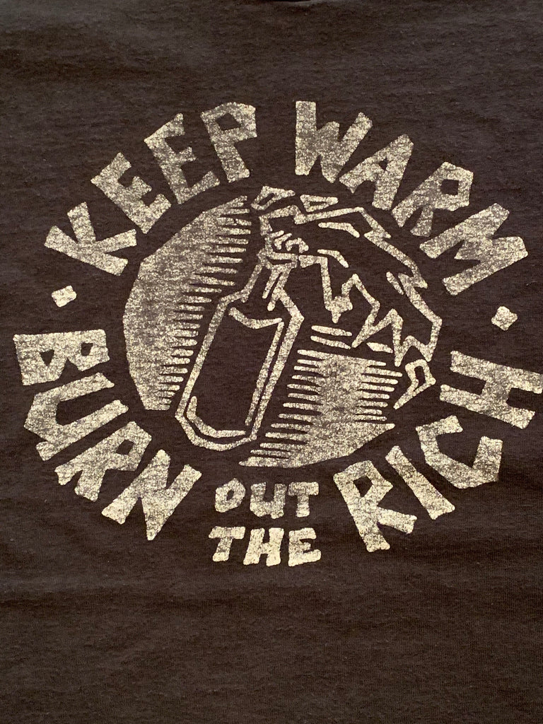 Vintage 90's Poison Idea Keep Warm Burn Out The Rich T-Shirt