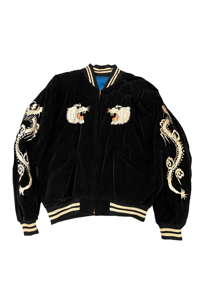 Vintage 50's Souvenir Satin Sukajan Tiger Japan Jacket