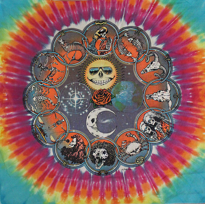 jerry jasper grateful dead vintage bandana art afterlife boutique