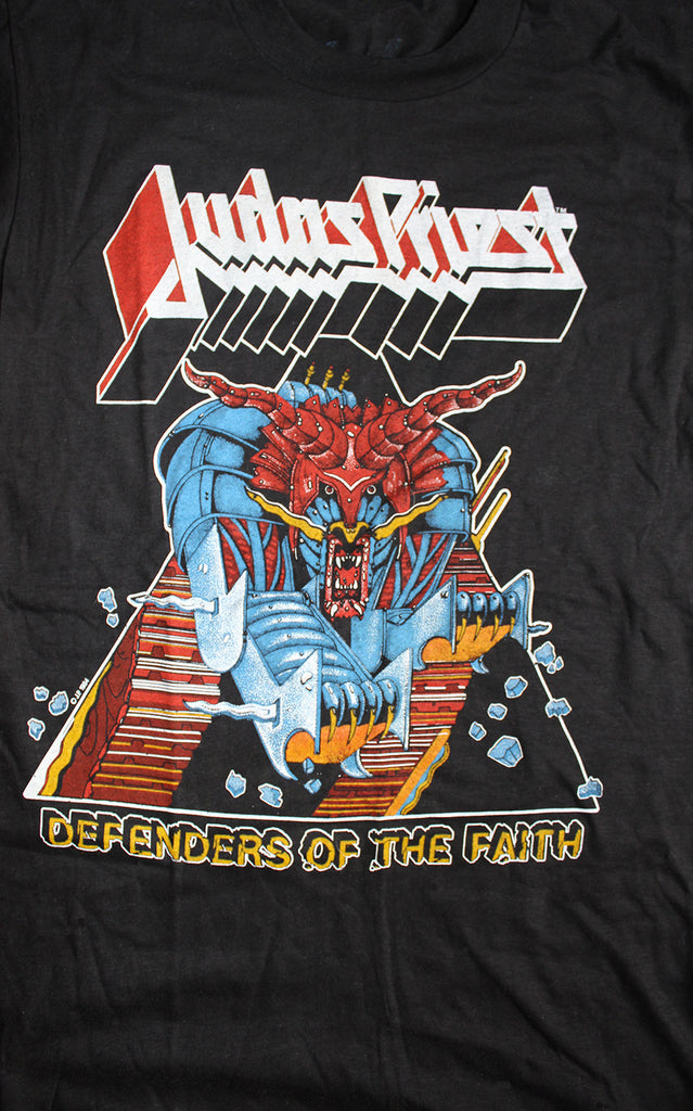 Vintage 80's Deadstock Judas Priest Defenders Tour T-Shirt