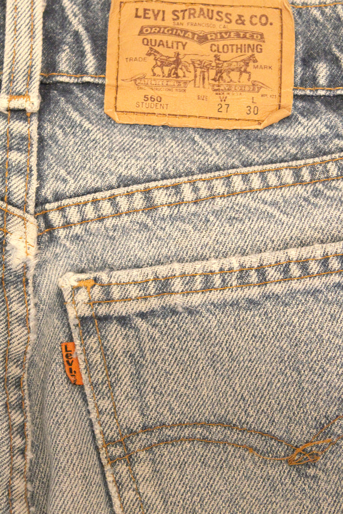 Vintage 90's LEVI'S 560 Orange Tab Relaxed Fit 28""