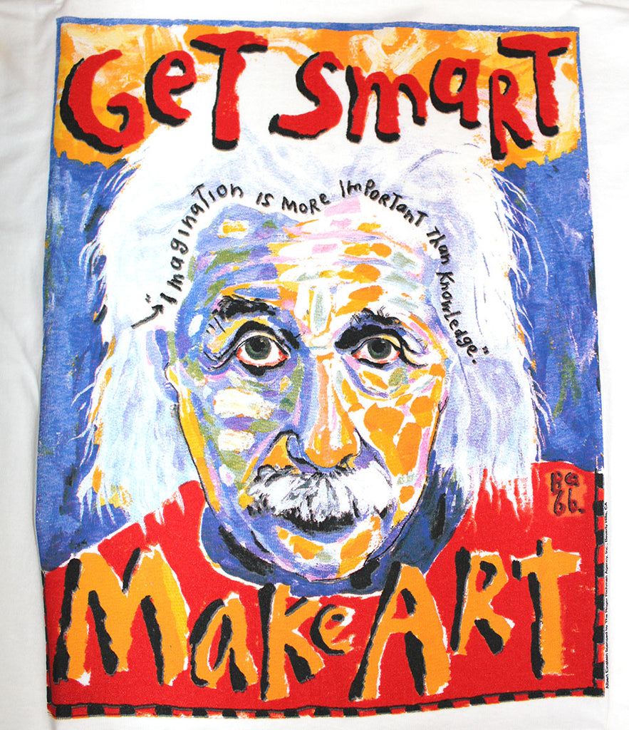 Vintage Deadstock 90's Albert Einstein Art T-Shirt