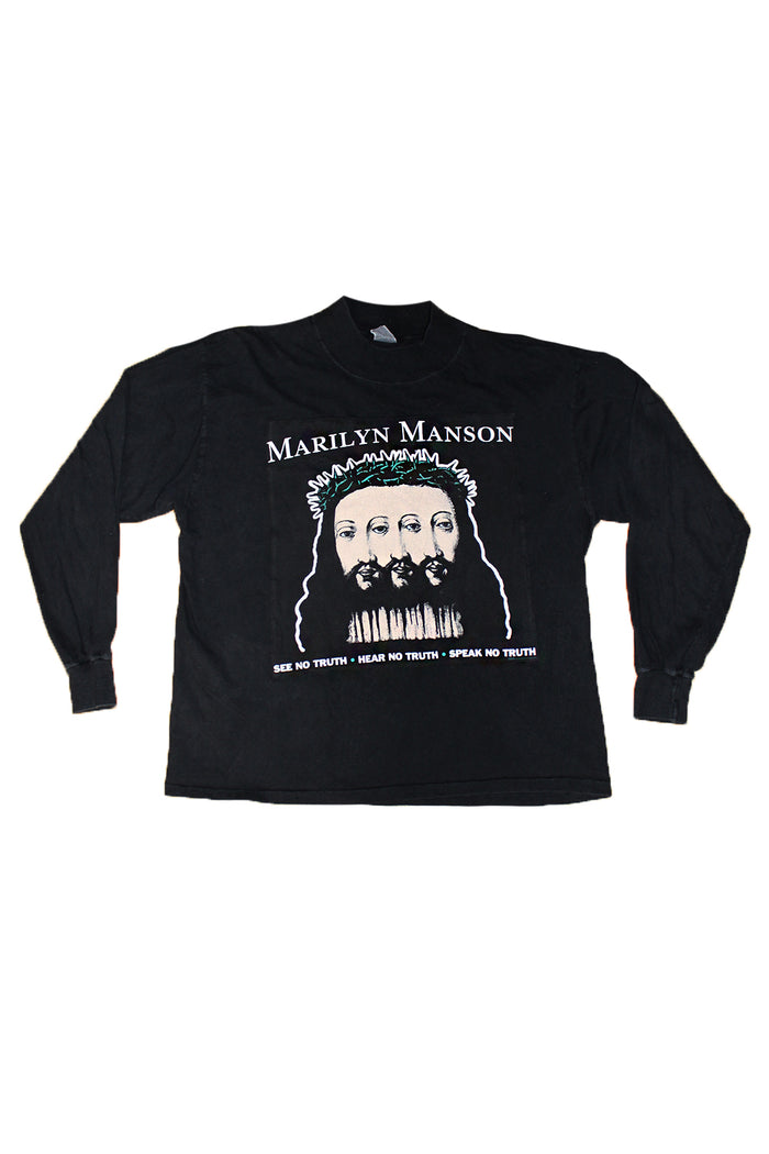 Vintage 90's Custom Marilyn Manson Believe Tour T-shirt ///SOLD///