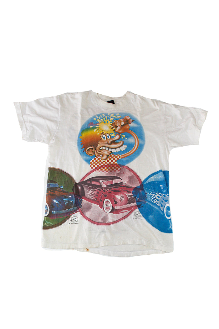 Vintage 70's Grateful Dead Live in Europe Kelley Mouse Studios Hot Rod Test Print T-Shirt