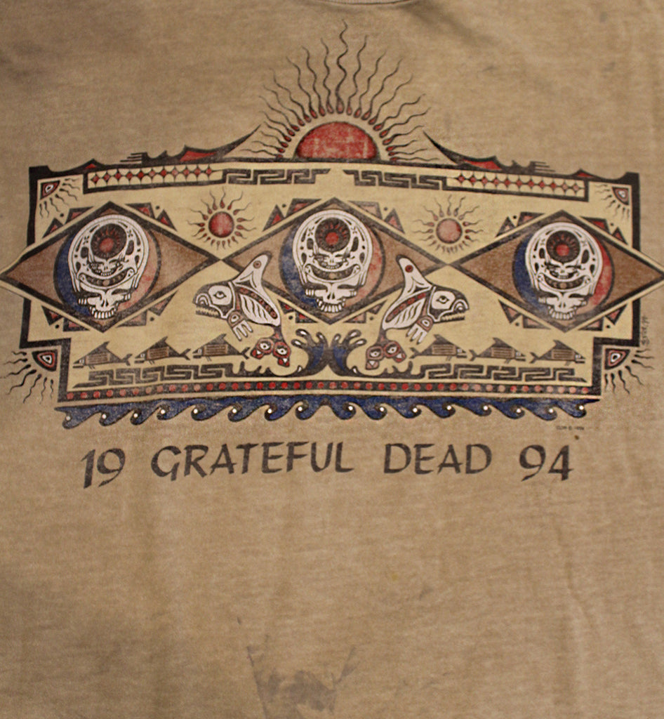 Vintage 90's Grateful Dead Jester Native Art T-Shirt