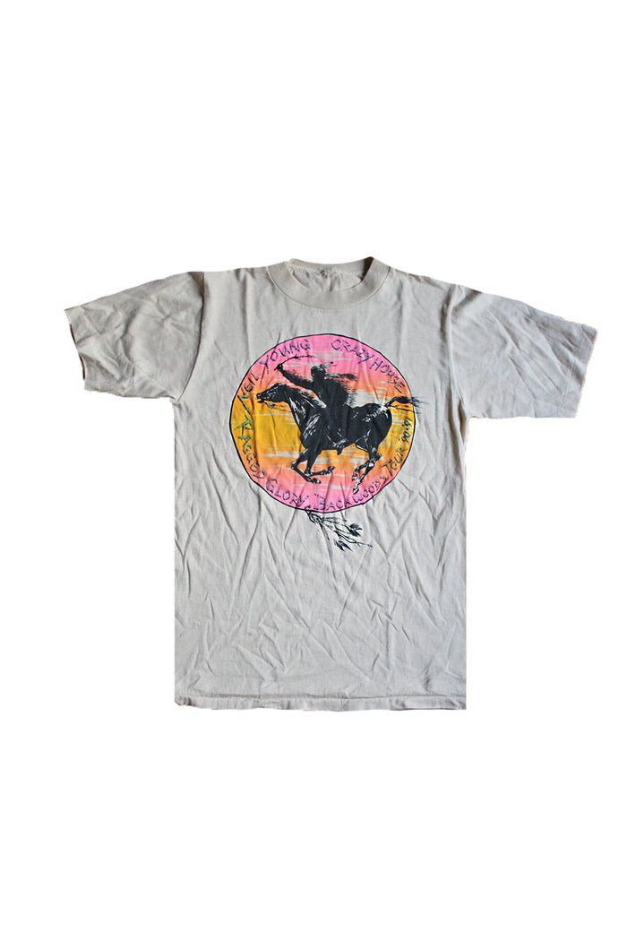 Vintage 90's Neil Young Crazy Horse Ragged Glory Backwoods T-Shirt