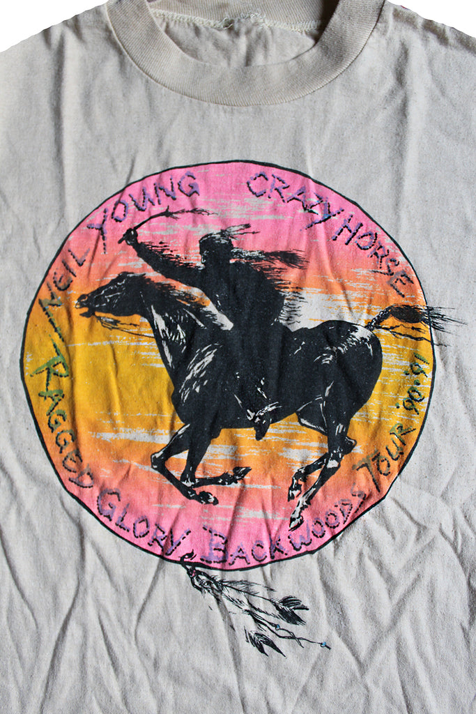 Vintage 90's Neil Young Crazy Horse Ragged Glory Backwoods T-Shirt ///SOLD///