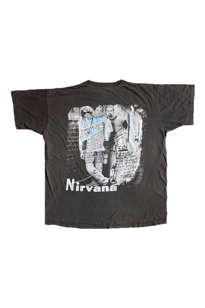 Vintage Kurt Cobain Nirvana 171 Washington Lake BLVD Memorial Park T-shirt ///SOLD///