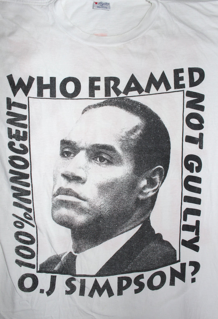 Vintage 90's O.J. Simpson Trial 100% Innocent T-shirt ///SOLD///