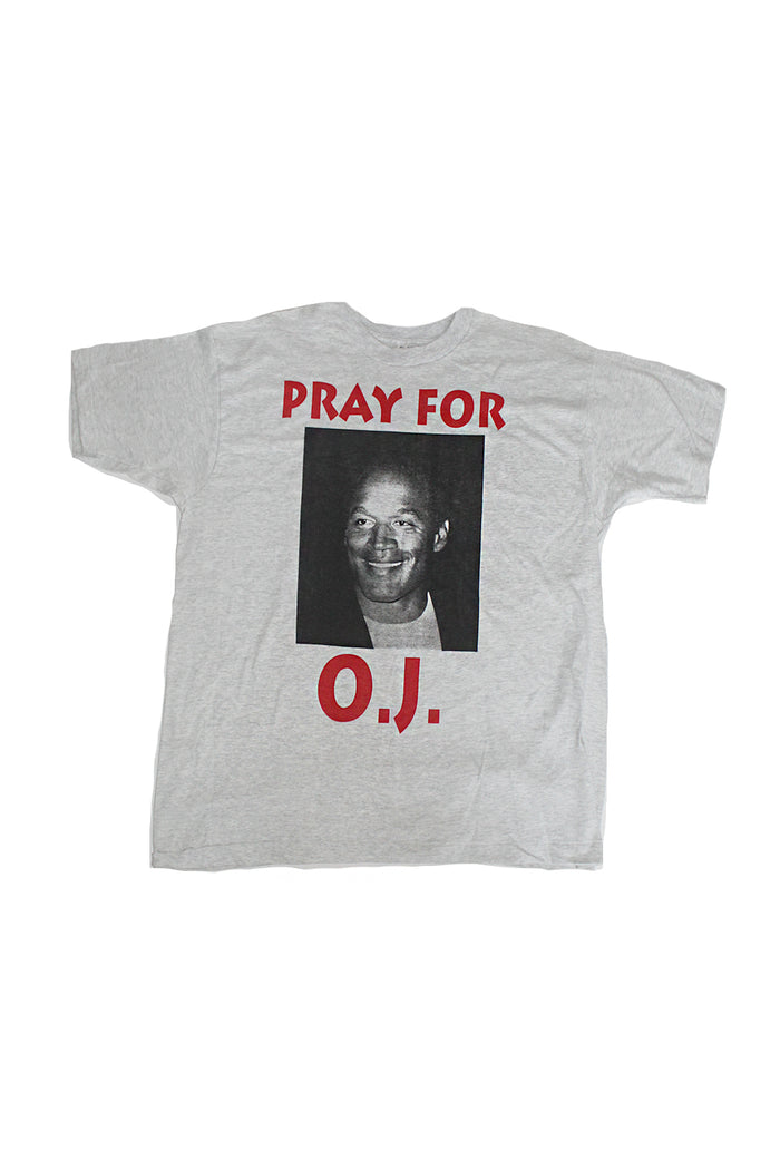 Vintage 90's Deadstock Rare O.J. Simpson Trial Pray for OJ T-shirt