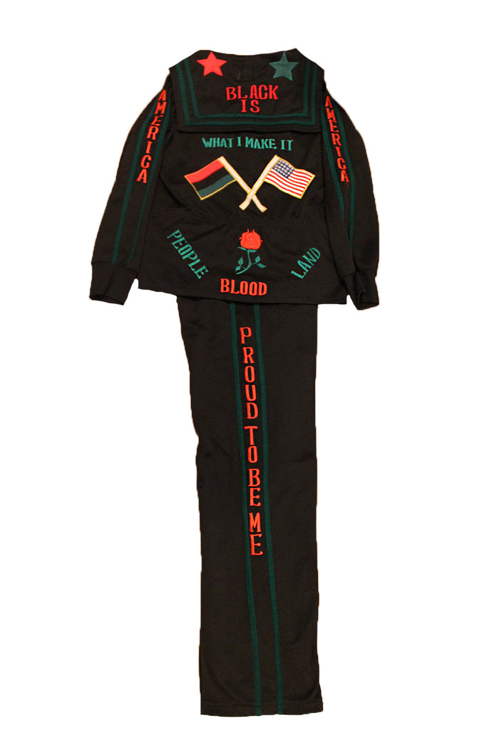 Vintage Proud To be Me Black Power Suit