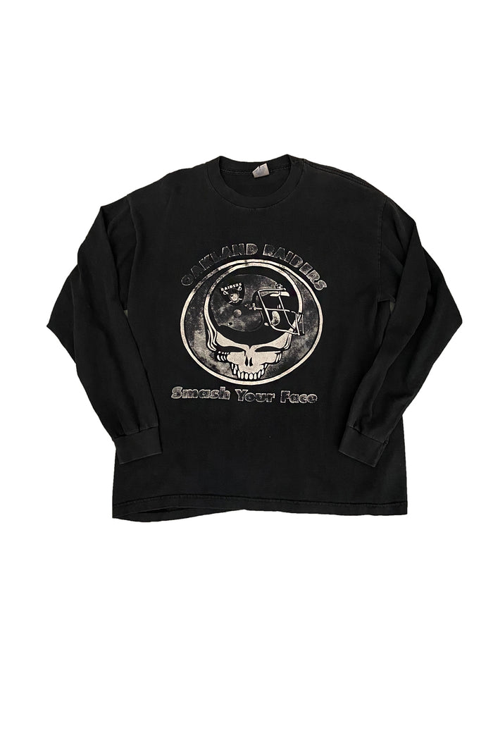 grateful dead oakland raiders long sleeve tshirt vintage