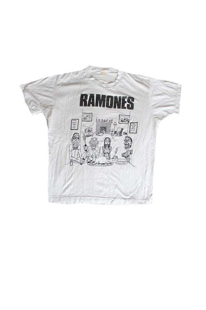 vintage ramones we're a happy family t-shirt