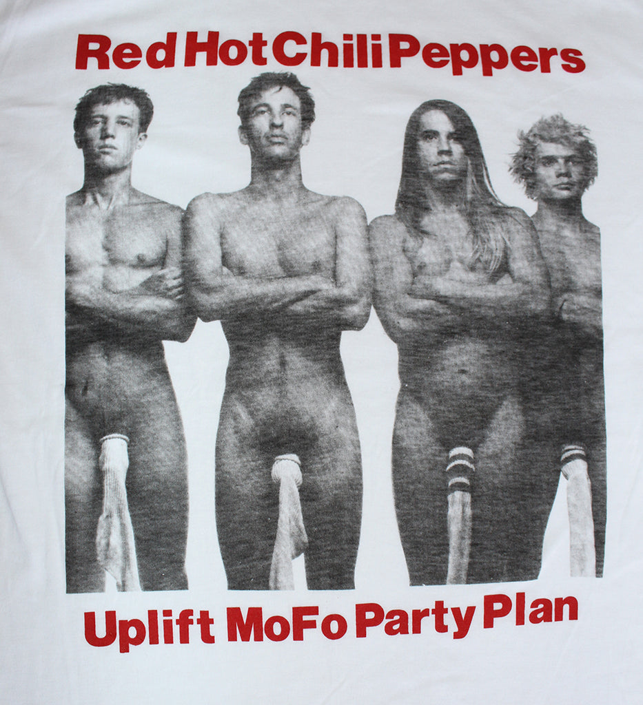 Vintage 80's Deadstock Red Hot Chili Peppers Uplift Mofo Party Plan T-Shirt