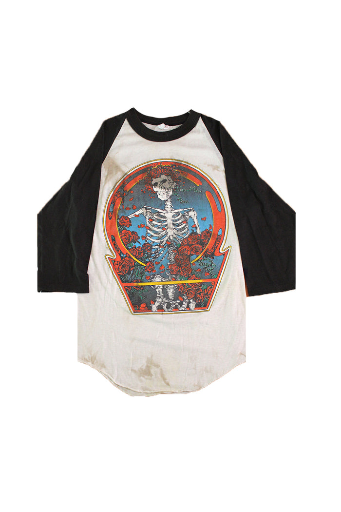 1980 Grateful Dead Skull and Roses Vintage T-shirt Afterlife Boutique