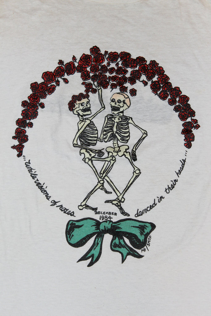Vintage 80's Grateful Dead Skeleton and Roses T-Shirt ///SOLD///