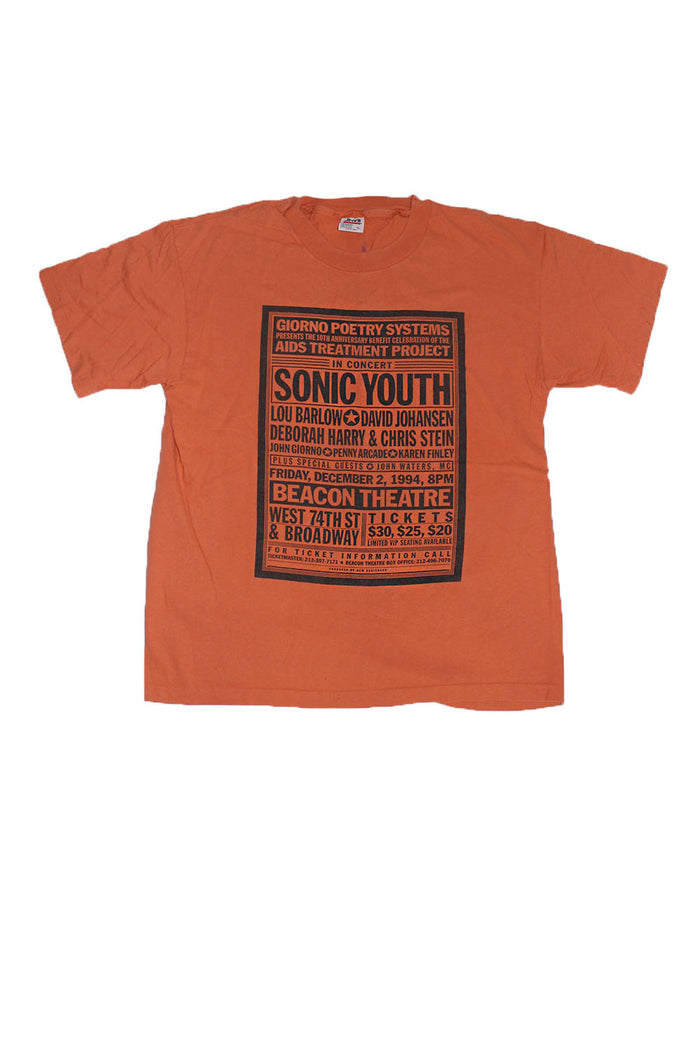 Vintage 90's Sonic Youth Concert Beacon Theatre T-Shirt