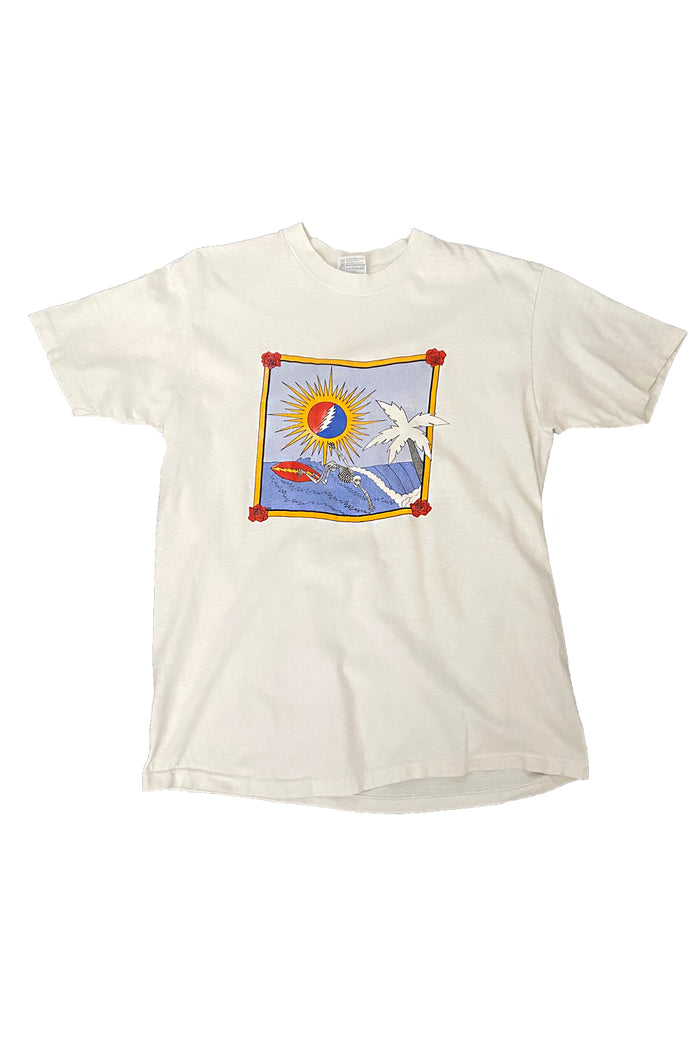 surf grateful dead vintage 80's t-shirt rare