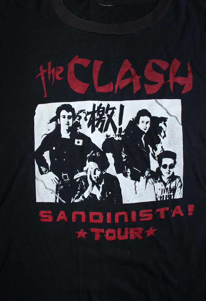 Vintage 80's The Clash Sandinista Tour T-Shirt