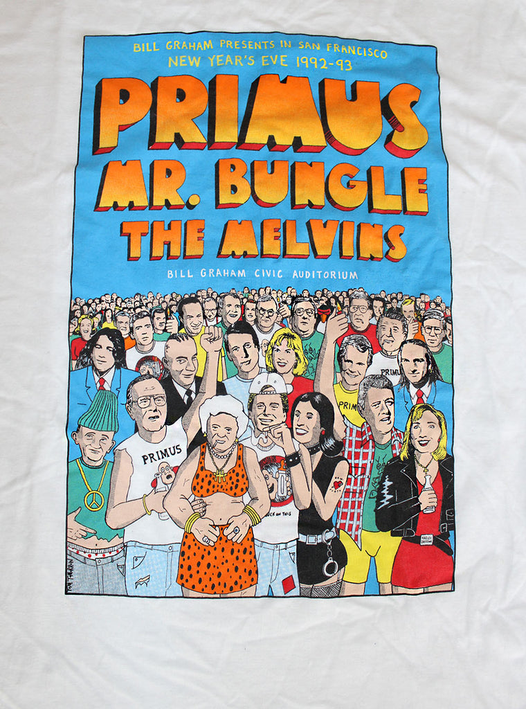 Vintage Deadstock 90's Primus Mr. Bungle The Melvins T-Shirt