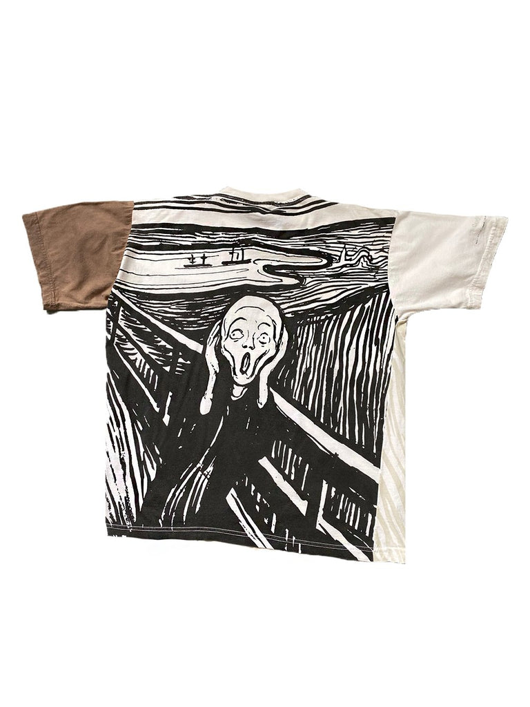 e. munch the scream all over print vintage tshirt